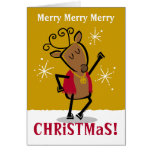 Dancer Reindeer Custom Card