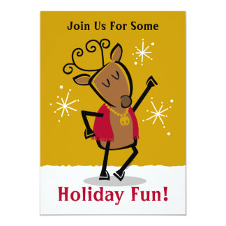 Dancer Reindeer Invitation