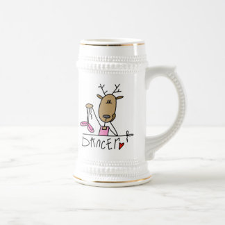 Dancer Reindeer T-shirts and Gifts 18 Oz Beer Stein