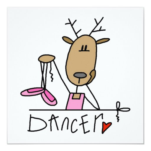 Dancer Reindeer T-shirts and Gifts Announcements