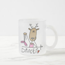 Dancer Reindeer T-shirts and Gifts Frosted Glass Coffee Mug