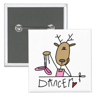 Dancer Reindeer T-shirts and Gifts Pinback Button