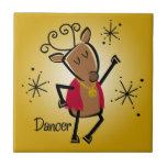 Dancer Reindeer Tile