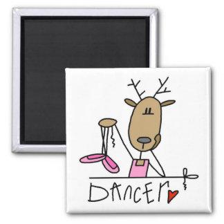 Dancer Reindeer Tshirts and Gifts Fridge Magnet