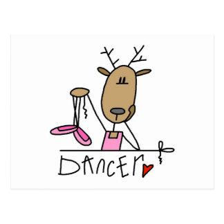 Dancer Reindeer Tshirts and Gifts Postcard