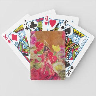 Dancer Rose Garden Brown Bicycle Playing Cards