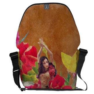 Dancer Rose Garden Brown Courier Bag