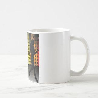 Dancer Silhouette Dance Woman Colorful Design Coffee Mug