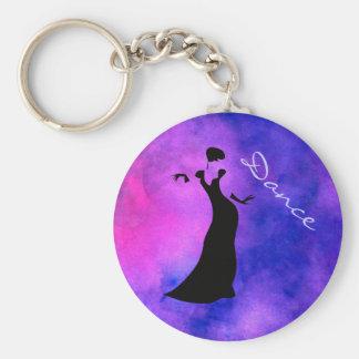 Dancer Silhouette Keychain
