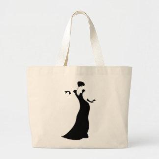 Dancer Silhouette Large Tote Bag