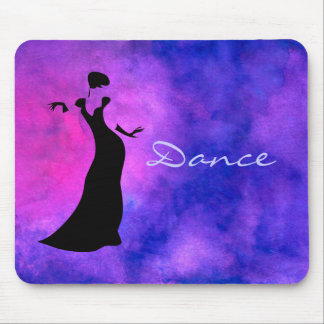 Dancer Silhouette Mouse Pad