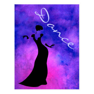 Dancer Silhouette Postcard
