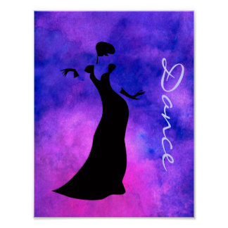 Dancer Silhouette Poster