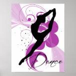 Dancer Silhouette Poster