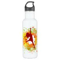Dancer Silhouette Stainless Steel Water Bottle