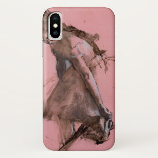 Dancer Slipping on Her Shoe by Edgar Degas iPhone X Case