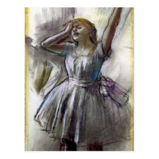 Dancer Stretching by Degas Postcard