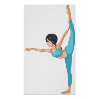 Dancer Stretching Poster