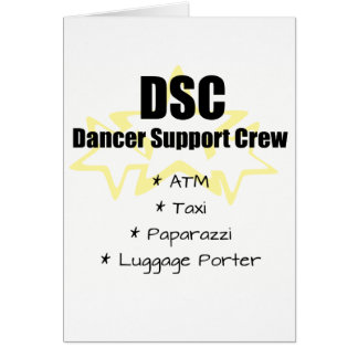 Dancer Support Crew Card