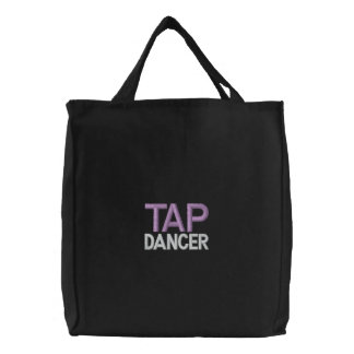 DANCER, TAP EMBROIDERED TOTE BAG