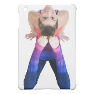 Dancer touching feet to head cover for the iPad mini