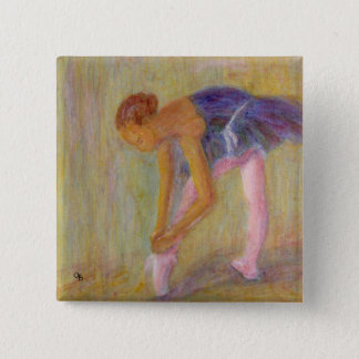 Dancer Tying Her Ballet Shoes, Button