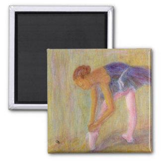 Dancer Tying Her Ballet Shoes, Magnet