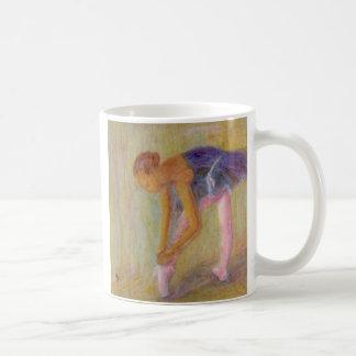 Dancer Tying Her Ballet Shoes, Mug