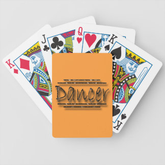 Dancer underlined black bicycle playing cards