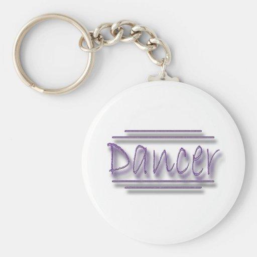 Dancer underlined  purple keychain