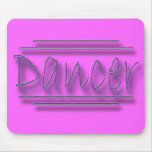 Dancer underlined  purple mousepads