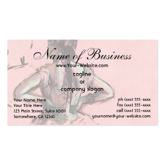 Dancer Viewed from the Back by Edgar Degas Double-Sided Standard Business Cards (Pack Of 100)