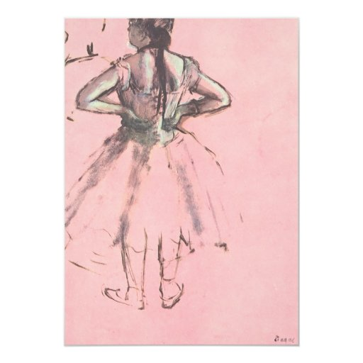 Dancer Viewed from the Back by Edgar Degas Custom Invitation
