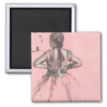 Dancer Viewed from the Back by Edgar Degas 2 Inch Square Magnet