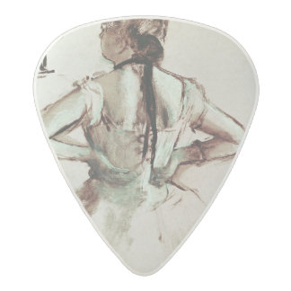 Dancer viewed from the back acetal guitar pick