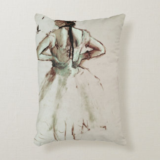 Dancer viewed from the back accent pillow