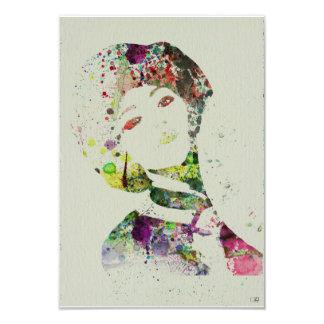 Dancer watercolor 3.5x5 paper invitation card