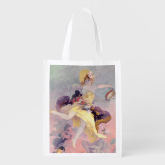 Dancer with a Basque Tambourine Grocery Bag