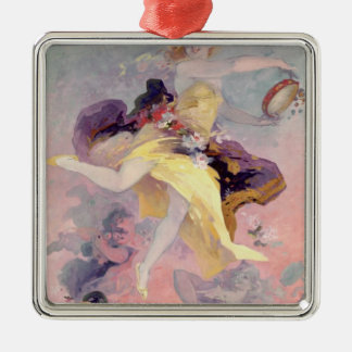 Dancer with a Basque Tambourine Metal Ornament