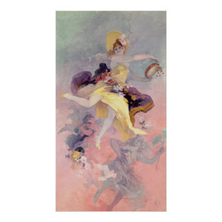 Dancer with a Basque Tambourine Poster