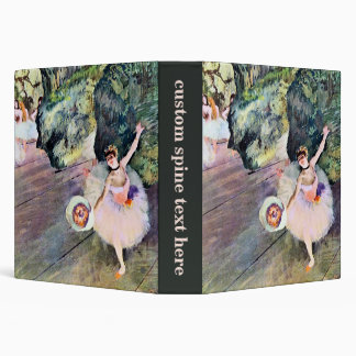 Dancer with a Bouquet of Flowers by Edgar Degas 3 Ring Binder