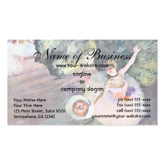 Dancer with a Bouquet of Flowers by Edgar Degas Business Card Templates