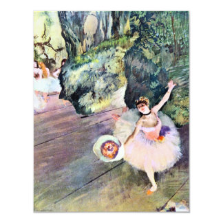Dancer with a Bouquet of Flowers by Edgar Degas Card