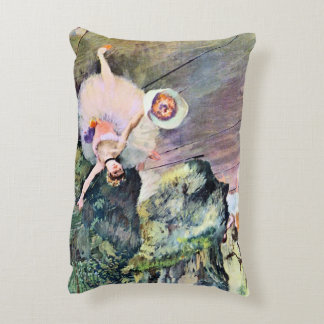 Dancer with a Bouquet of Flowers by Edgar Degas Decorative Pillow