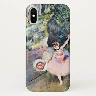 Dancer with a Bouquet of Flowers by Edgar Degas iPhone X Case