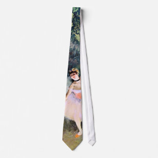 Dancer with a Bouquet of Flowers by Edgar Degas Neck Tie