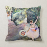 Dancer with a Bouquet of Flowers by Edgar Degas Pillows
