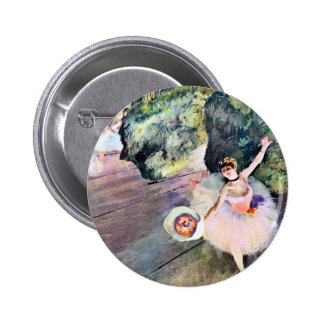 Dancer with a Bouquet of Flowers by Edgar Degas Pinback Button