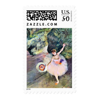 Dancer with a Bouquet of Flowers by Edgar Degas Postage