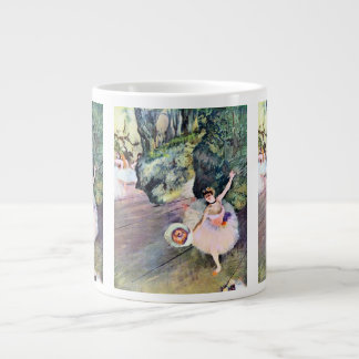Dancer with a Bouquet of Flowers by Edgar Degas 20 Oz Large Ceramic Coffee Mug
